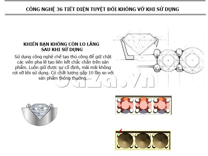 Đồng hồ nữ mặt trái tim Vinoce V633248G  màu sắc xa hoa sáng bóng