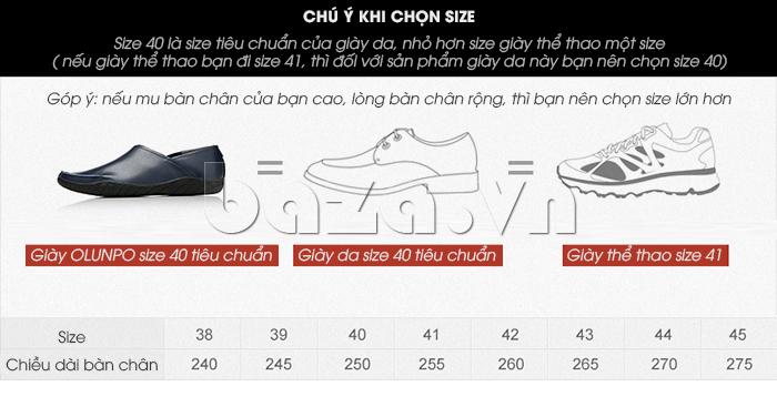 Giày nam Olunpo CYNS1501 thời trang