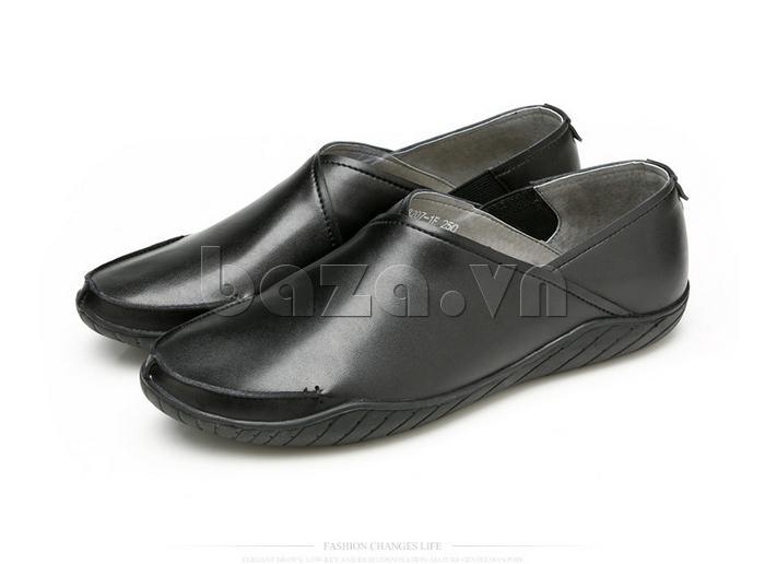 Giày nam Olunpo CYNS1501 đen huyền bí