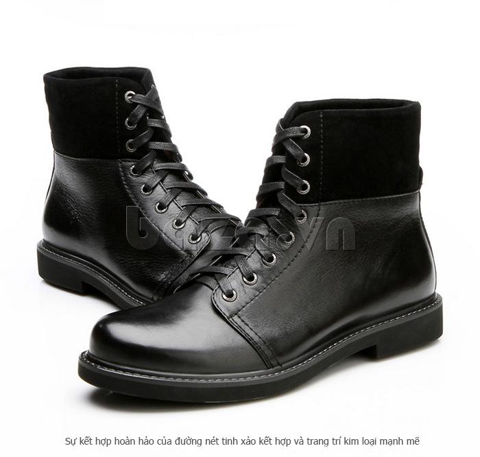 Giày nam cao cổ Olunpo DLY1206 dễ lau chùi