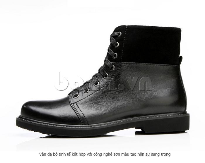 Giày nam cao cổ Olunpo DLY1206 da bò cao cấp