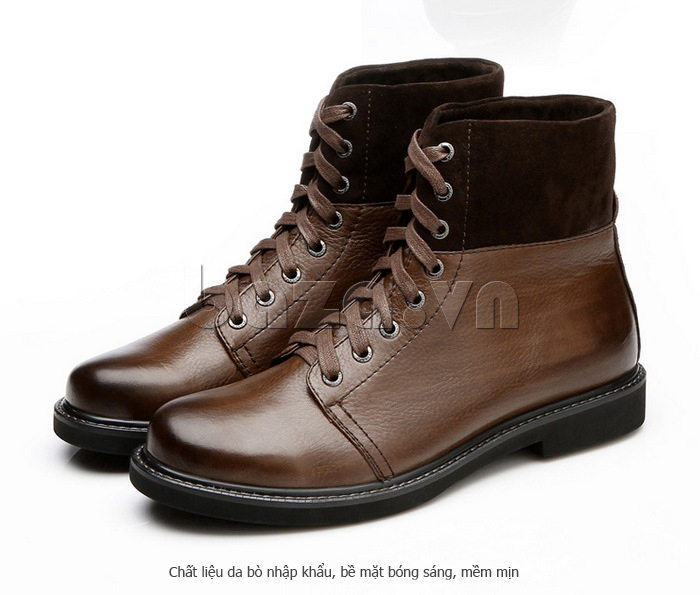 Giày nam cao cổ Olunpo DLY1206 thời trang cao cổ ấn tượng