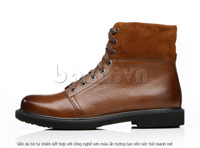 Giày nam cao cổ Olunpo DLY1206 giữ ấm và bảo vệ chân