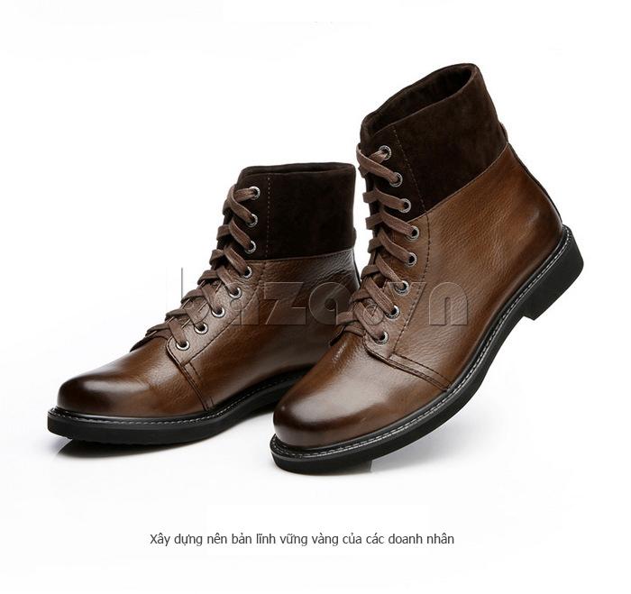Giày nam cao cổ Olunpo DLY1206 thể hiện bản lĩnh của doanh nhân