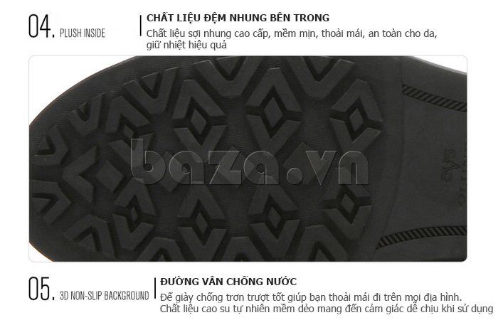 Giày nam cao cổ Olunpo DLY1206 đế giày giúp bám chắc