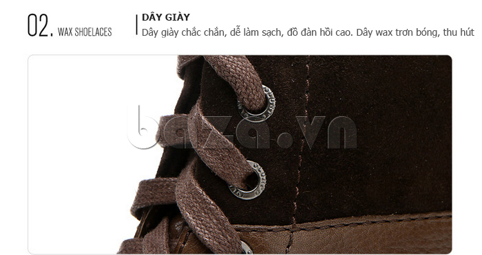 Giày nam cao cổ Olunpo DLY1206 thiết kế dây giày chắc chắn