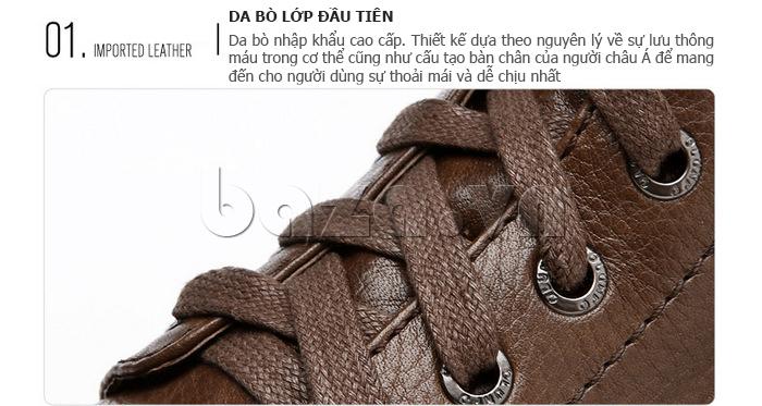 Giày nam cao cổ Olunpo DLY1206 ấn tượng bởi lớp da cao cấp