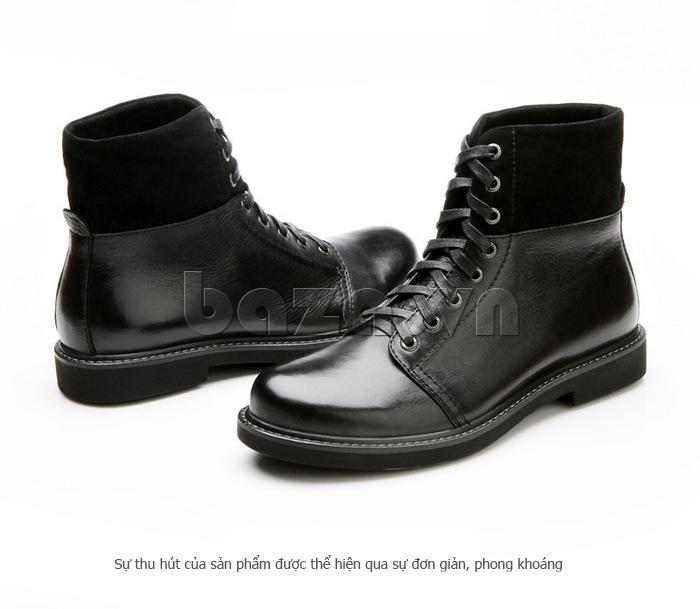 Giày nam cao cổ Olunpo DLY1206 màu đen sang trọng