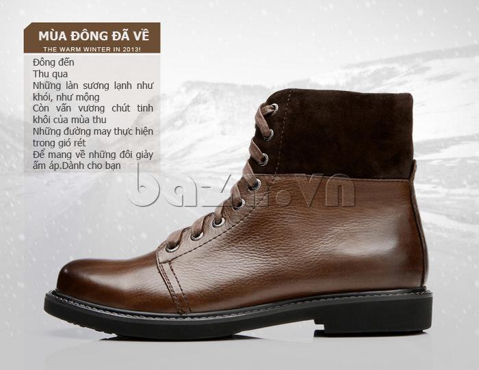 Giày nam cao cổ Olunpo DLY1206 giày cho ngày đông