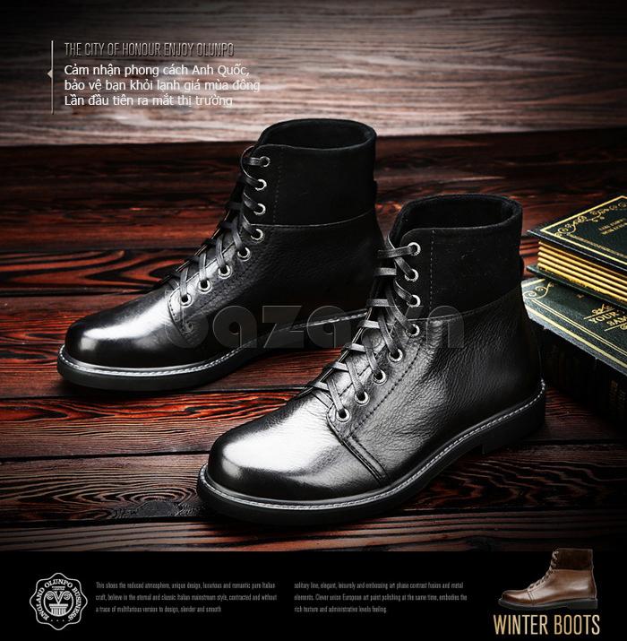 Giày nam cao cổ Olunpo DLY1206 khẳng định thương hiệu