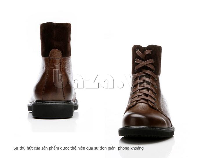 Giày nam cao cổ Olunpo DLY1206 có lớp bông ấm áp bên trong