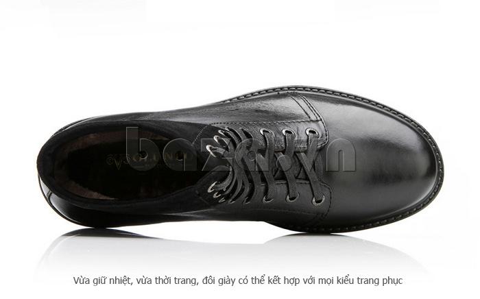 Giày nam cao cổ Olunpo DLY1206 cách buộc dây hiện đại