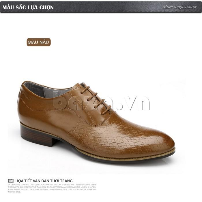 Giày nam họa tiết vân đan thời trang