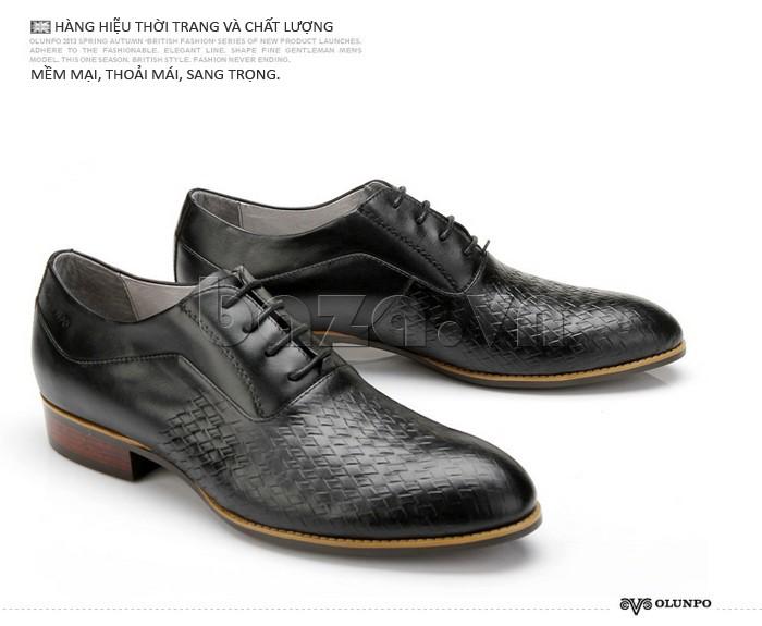 Giày da nam Olunpo QABA1226 hàng hiệu đẳng cấp