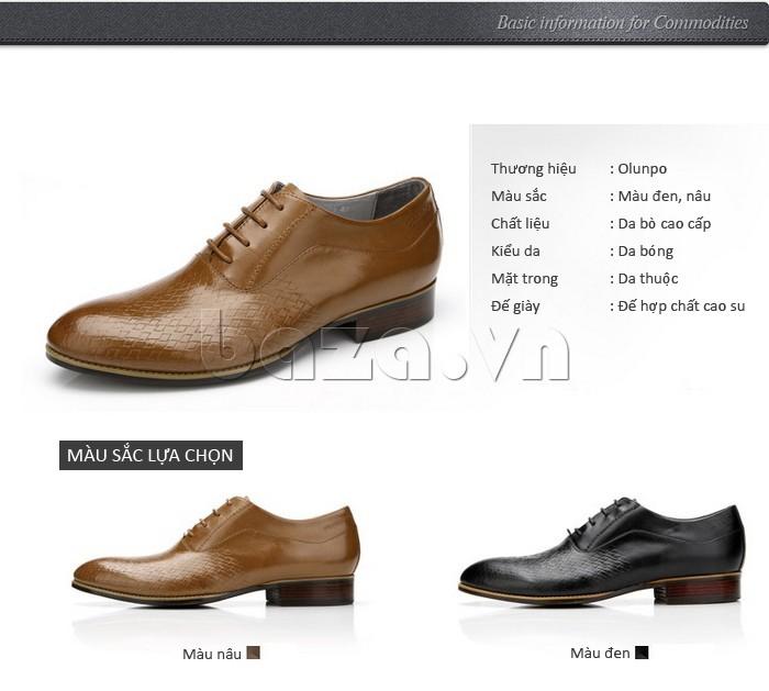 Giày da nam Olunpo QABA1226 thương hiệu Olunpo