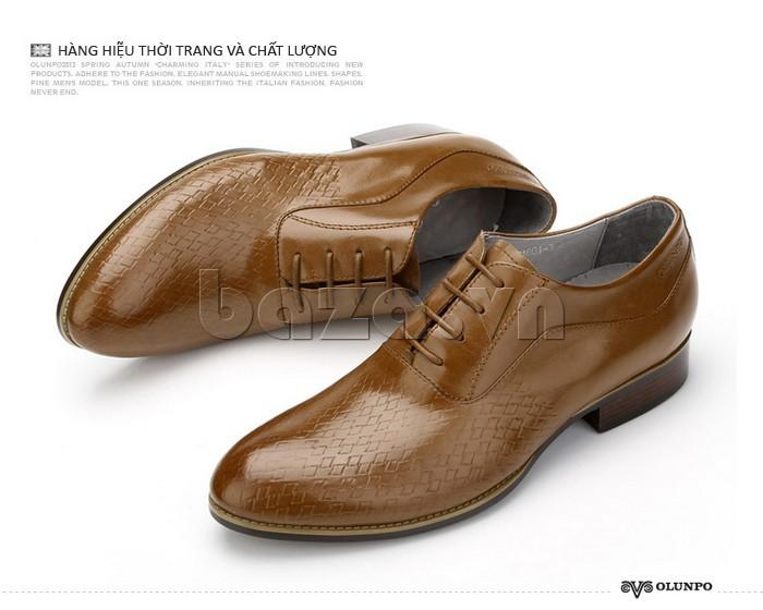 Giày da nam Olunpo QABA1226 hàng hiệu thời trang và chất lượng