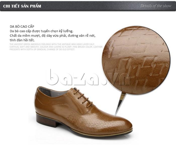 Giày da nam Olunpo QABA1226 da bò cao cấp được tuyển chọn kỹ lưỡng