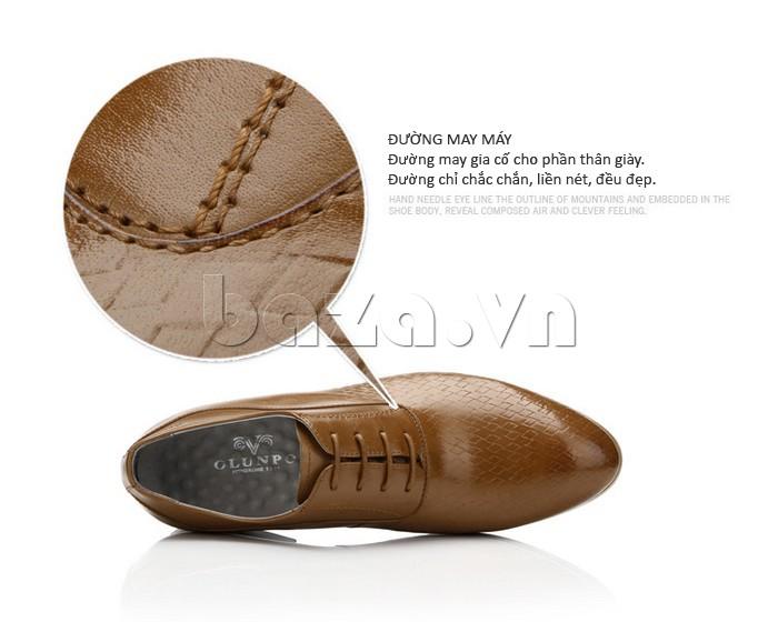 Đường may giày chắc chắn, liều, đều và đẹp