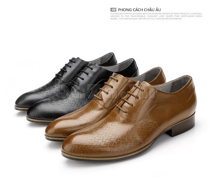 Giày da nam Olunpo QABA1226 phong cách châu Âu