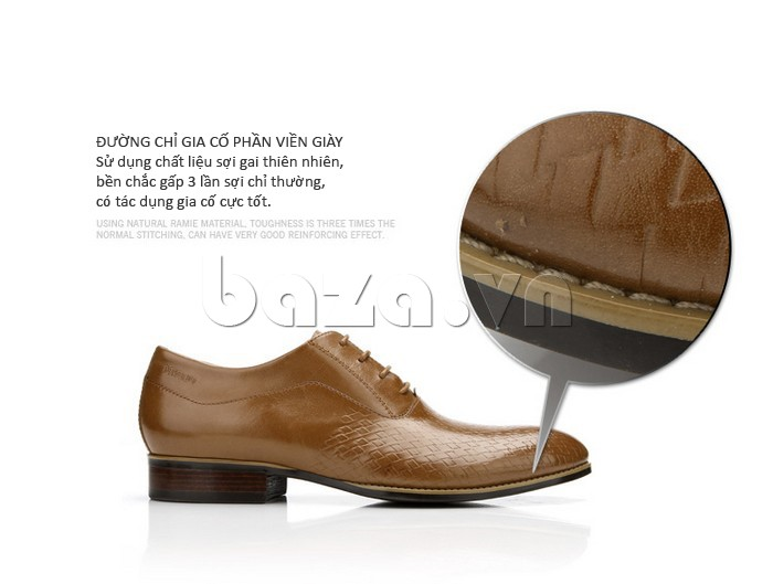 Đường chỉ gia cố viền giày chất liệu sợi gai thiên nhiên