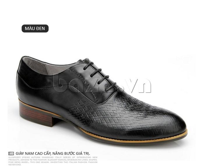 Giày da nam Olunpo QABA1226 màu đen lịch lãm