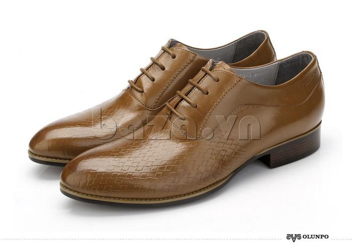 Giày da nam Olunpo QABA1226 chất da bóng