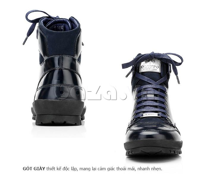 Giày da nam Olunpo DHT1443 cao cổ tinh tế