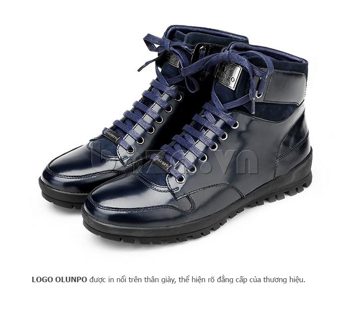 Giày da nam Olunpo DHT1443 cao cổ hiện đại, tiện dụng