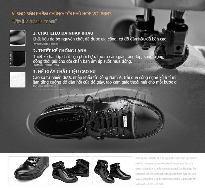 Giày da nam Olunpo DHT1443 ấn tượng