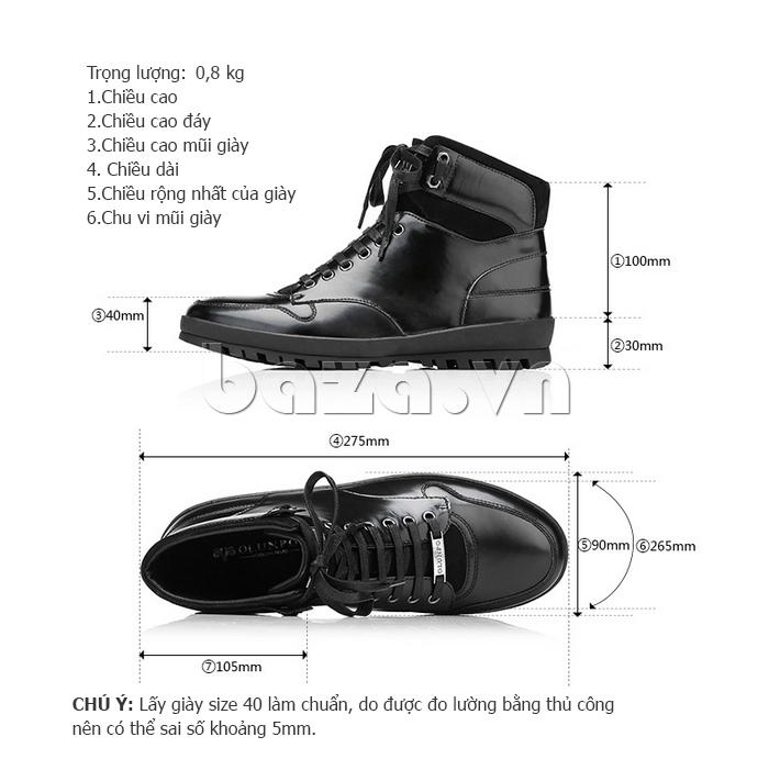 Giày da nam Olunpo DHT1443 thiết kế cá tính và đẹp