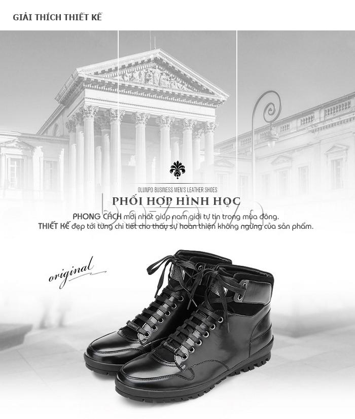 Giày da nam Olunpo DHT1443 lạ