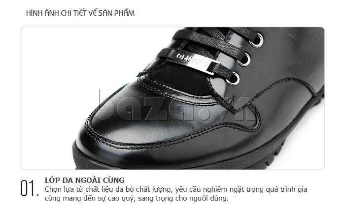 Giày da nam Olunpo DHT1443 chất lượng nổi bật