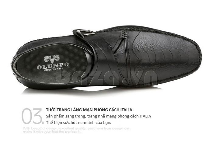 Giầy da nam Olunpo QABA130  màu sắc trang nhã và cổ điển