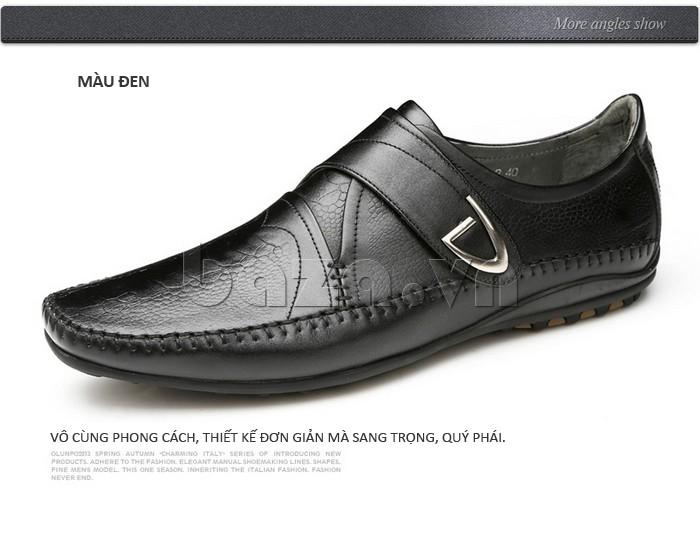 Giầy da nam Olunpo QABA130  thiết kế đơn giản mà quý phái