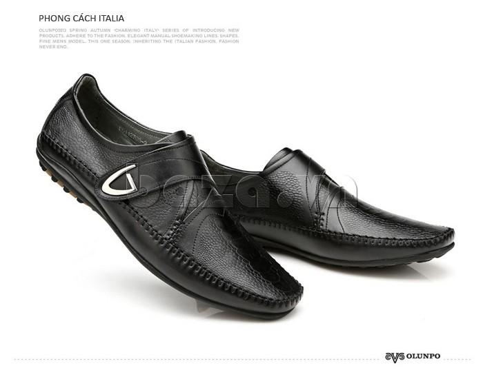Giầy da nam Olunpo QABA130  màu đen phong cách Italia