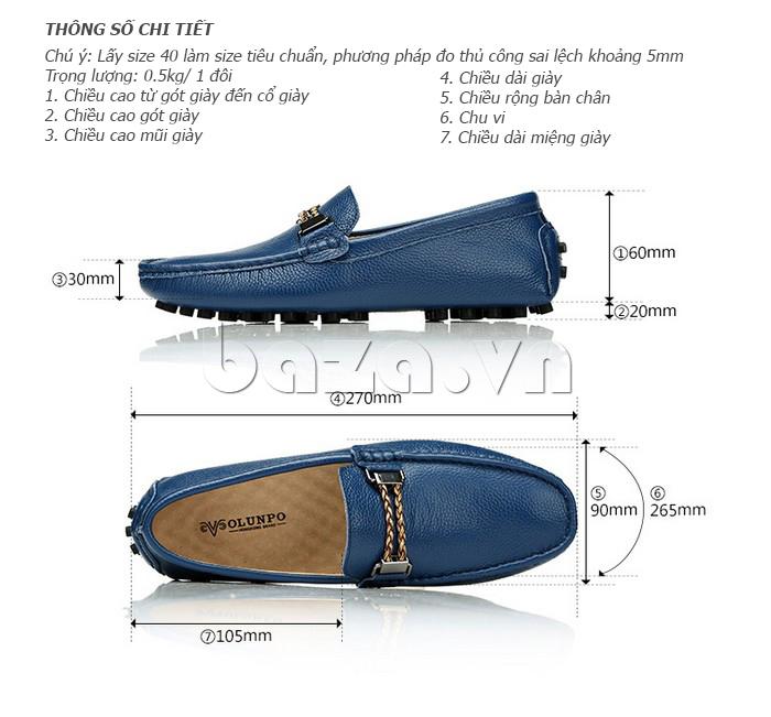 Thông số chi tiết của Giày lười nam thời trang Olunpo CZYA1501