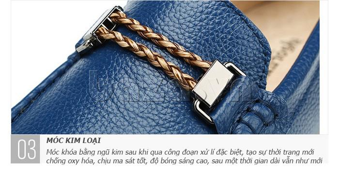 Giày lười nam thời trang Olunpo CZYA1501 - gắn xích tinh tế