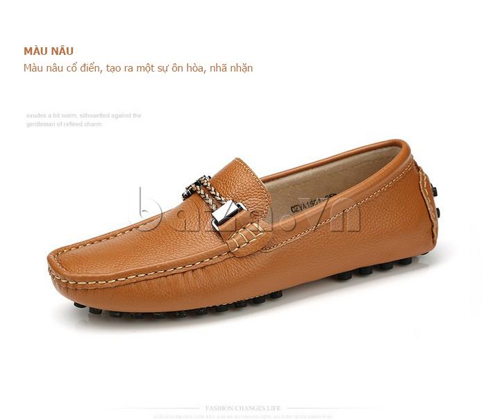 Giày lười nam thời trang Olunpo CZYA1501 - màu nâu