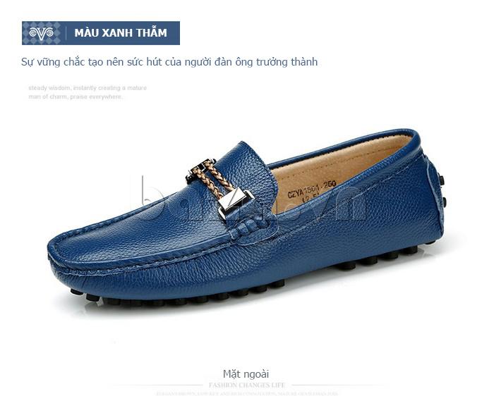 Giày lười nam thời trang Olunpo CZYA1501 màu xanh thẫm