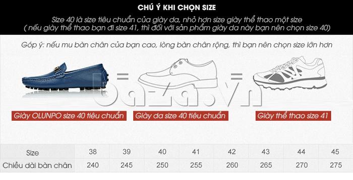 Gợi ý chọn Giày lười nam thời trang Olunpo CZYA1501