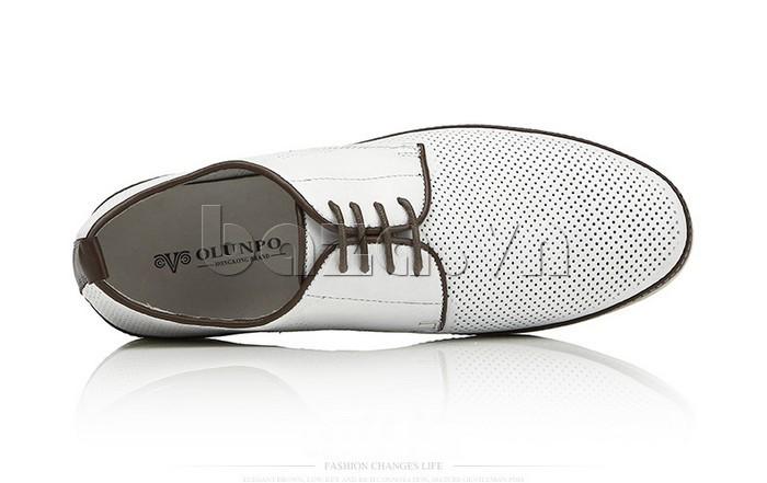 Giày da nam đục lỗ thời trang Olunpo XBS1501 trẻ trung