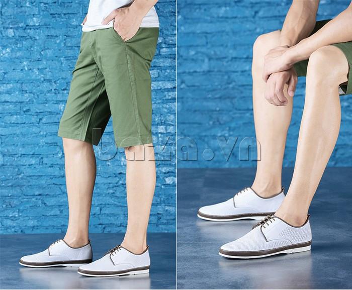Giày da nam đục lỗ thời trang Olunpo XBS1501 - giày công sở hiện đại