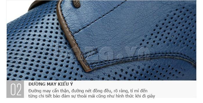 Giày da nam đục lỗ thời trang Olunpo XBS1501 - đường may kiểu Ý