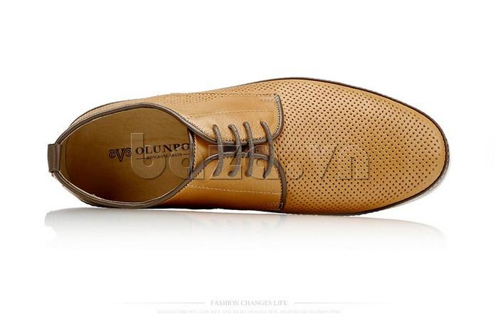 Giày da nam đục lỗ thời trang Olunpo XBS1501 lịch lãm