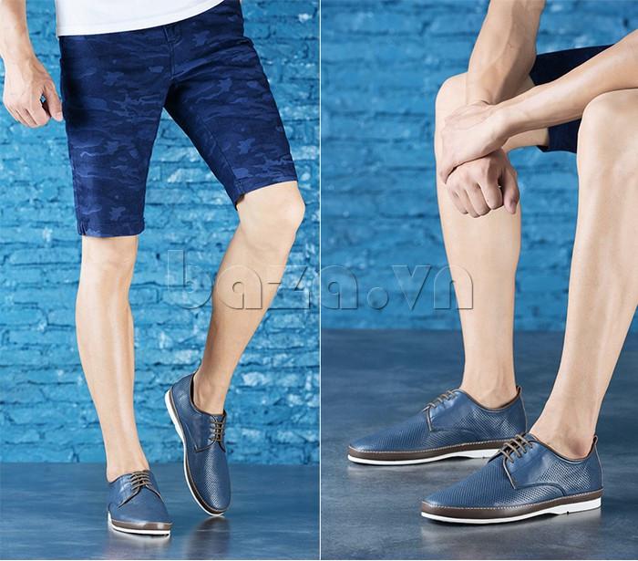 Giày da nam đục lỗ thời trang Olunpo XBS1501 - trang nhã và cá tính