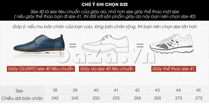 Gợi ý chọn Giày da nam đục lỗ thời trang Olunpo XBS1501