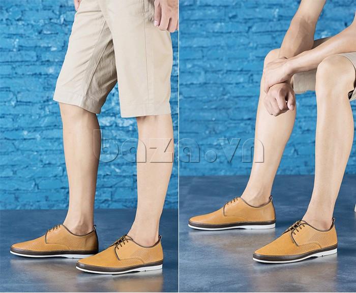 Giày da nam đục lỗ thời trang Olunpo XBS1501 - giày da quyến rũ