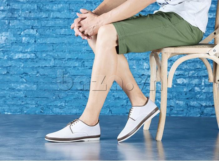 Giày da nam đục lỗ thời trang Olunpo XBS1501 - giày da tinh tế