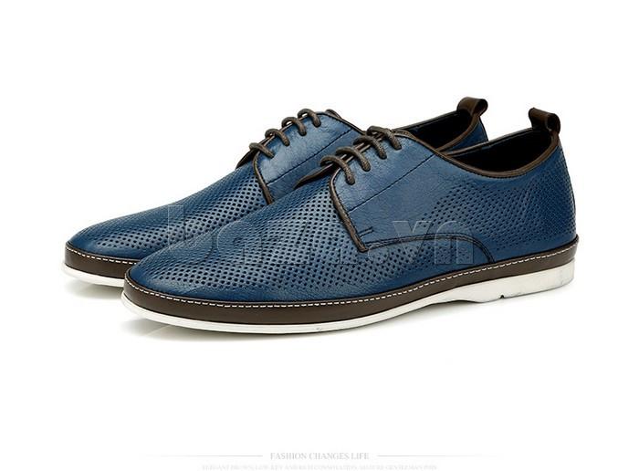 Giày da nam đục lỗ thời trang Olunpo XBS1501 phong cách trẻ trung