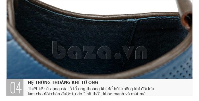 Giày da nam đục lỗ thời trang Olunpo XBS1501 - thoáng khí